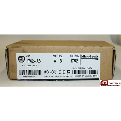 Allen-Bradley 1762-IA8 MicroLogix 8-Point 120V AC Input Module - New Surplus ...