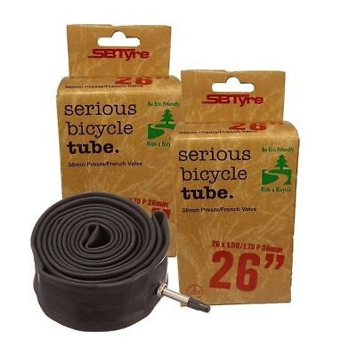 SBT 26x1.50-1.75 (26x1.95) Inch 36mm Presta/French Valve Bike/Bicycle Tubes x2