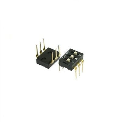 5 Pcs 2.54mm Pitch 3 Position Slide Type DIP Switches