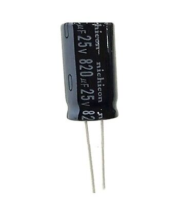 5pcs NEW 820uF 25V 105C Radial Electrolytic Capacitor 10mm*20mm NEW
