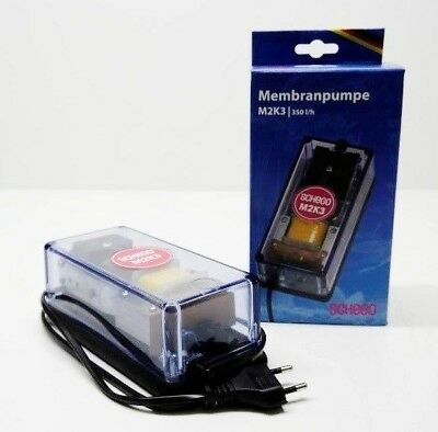 Schego M2K3 Membrane Pump 350 l/h Through Fan Air Pump Aquarium pump