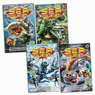 Sea Quest Series 3 Collection Adam Blade 4 Books Set (9 to 12)-Finaria, Chakrol