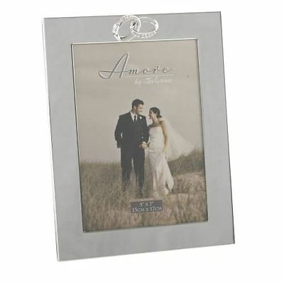 Juliana Wedding Photo Frame - Silverplated With Crystal Rings - 5x7 - FS43157