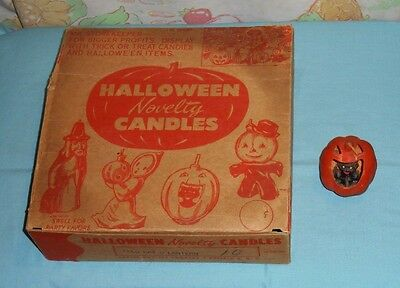 vintage Halloween GURLEY NOVELTY CANDLES ORIGINAL STORE DISPLAY BOX + one candle