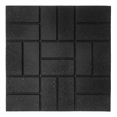 New 24 in. x 24 in. XL Brick Square Black Rubber Balcony Patio Deck Paver 4-Pack