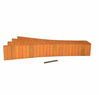 New 5-1/2 in. x 12 ft. Wood Lawn Rot Resistant Cedar Stained Non Concrete Edging