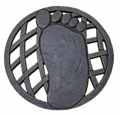 New 13 in. x 13 in. Circular Right Foot Aluminum Garden Landscape Step Stone