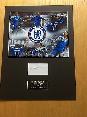 Didier Drogba Chelsea FC Hand Signed Photo Mount