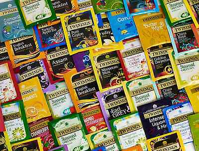 Twinings 20 Assorted Flavours Fruit Speciality Herbal Green 100 Envelope Teabags