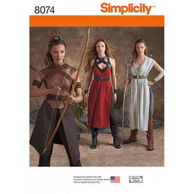 Simplicity Sewing Pattern 8074 Misses' Warrior Costumes Archer Fantasy Cosplay