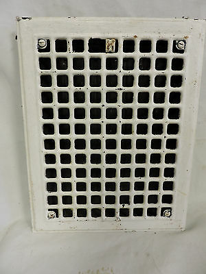 Vintage 1920S Iron Heating Grate Square Design 14 X 11 C