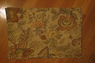 Set of 2 Mocha and Floral Placemats – Reversible – New