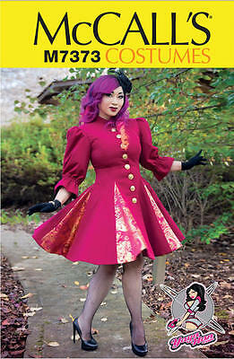 ed98fe7f2a McCalls M7373 Yaya Han Fitted Flared Coat Cosplay Sewing Pattern Size 14-22