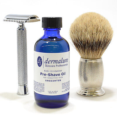 BEST Pre Shave Shaving Oil UNSCENTED* Blend of 11 Different OIL 100% All Natural