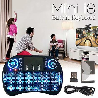 Portable Mini i8 Keyboard Wireless Backlit  Air Mouse For  TV Box