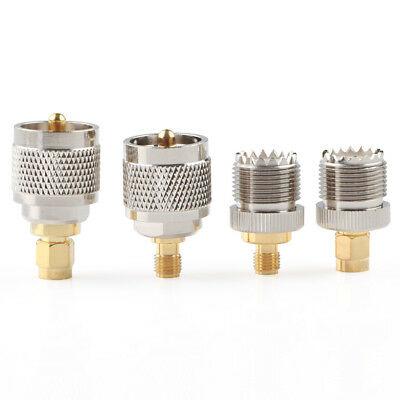 Set Adapter 4pcs/set PL259 SO239 to SMA male female RF connector Test converter