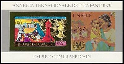 Chess - Central Africa - 1979 - Miniature sheet imperforate