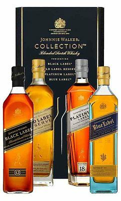 Johnnie Walker The Collection 4x200ml  (Boxed)