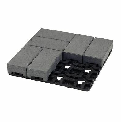 4 in. x 8 in. Waterwheel Composite Standard Paver Grid System 8 Pavers and Grid