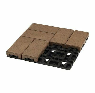 New 4 in. x 8 in. Olive Composite Resurfacing Paver Grid System 8 Pavers and 1