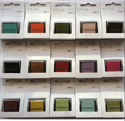 Kaisercraft Pigment Ink Pad Non Toxic 15 Colours Scrapbook Stamping Card Making