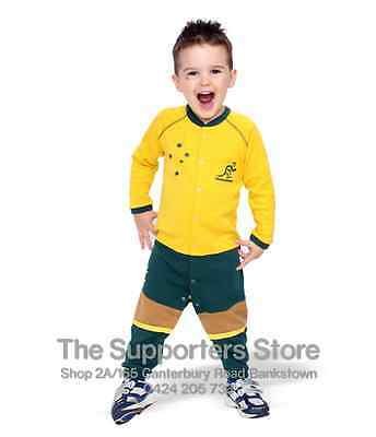 Australia Wallabies Rugby Footy Suit Onesie Jersey Design Toddlers Size 000-3