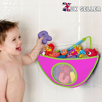 Rose Kids Baby Bath Tidy Toy Storage Suckers Cup Triangle Bag Organizer Holder