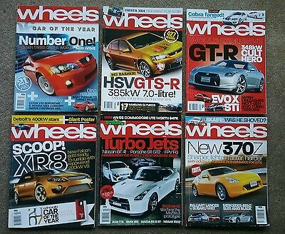 WHEELS magazine - bulk lot - 6 issues from 2007-2009 - PLUS extra choices
