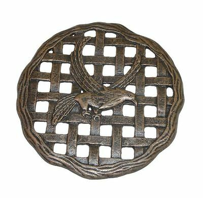 New 12 in. x 12 in. Antique Bronze Circular Eagle Aluminum Garden Step Stone