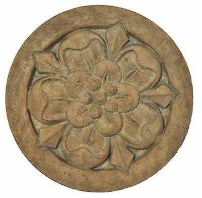 New 18 in. Round Cast Stone Large Floral Garden Landscape Pathway Stepping Stone