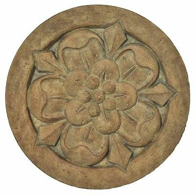 New 18 in. Round Cast Stone Large Floral Garden Landscape Patio Stepping Stone