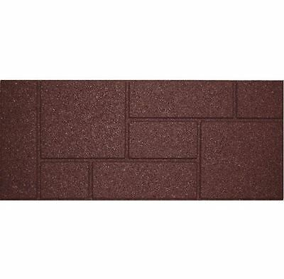 New Cobblestone 10 in. x 24 in. Rectangle Rubber Terra Cotta Stair Tread 4-Pack