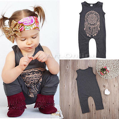 Cute Toddler Baby Girls Boys Romper Bodysuit Playsuit Jumpsuit Outfits Clothes