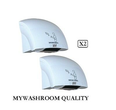 2 X Mywashroom Commercial Automatic Low Noise Hand Dryer 1800W(Factory Outlets)