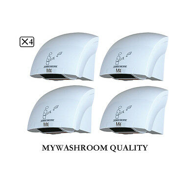 4 X Mywashroom Automatic Quick Hand Dryer 1800W (Factory Outlets)