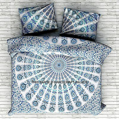 mandala indian queen size bettbezug bohemien duvet doona abdeckung bettw sche eur 46 99. Black Bedroom Furniture Sets. Home Design Ideas