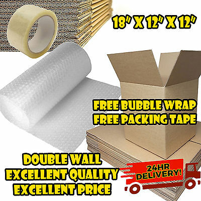 NEW 20 X LARGE DOUBLE WALL Cardboard Box Moving Boxes - Removal Packing Storage