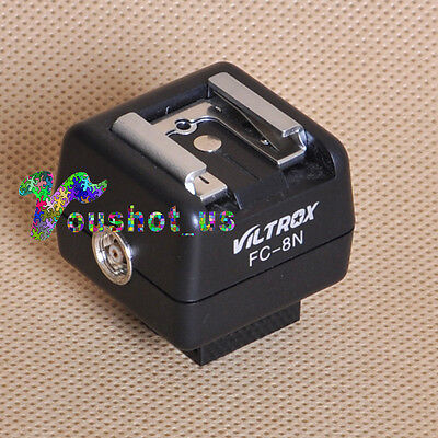 Viltrox FC-8N Hot Shoe Flash Wireless Optical Slave Trigger with PC Sync Socket