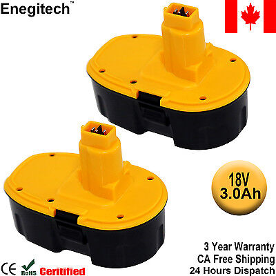 CA New 2 Pack 18V 3.0Ah Extended Battery for Dewalt DC9096 DC9099 Cordless Tool