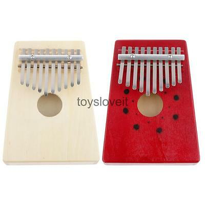 New Red/White Kalimba Thumb Piano 10Keys Tunable Musical Instrument Toys for Kid