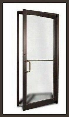 2 Commercial Aluminum Storefront Door & Frame (Dark Bronze Finish)