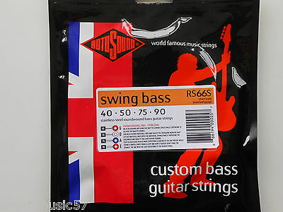 Rotosound RS66S Swing Bass Guitar Set Short Scale Steel Roundwound 40-90 Gauge