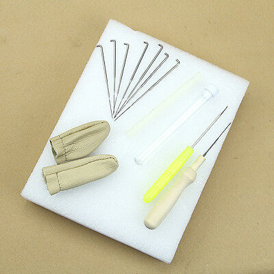 1Set Felting Starter Wool Felt Tool Mat + Needles + Accessories for Craft DIY