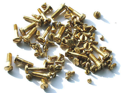 Approx. 100 Assorted Brass Clock Bell And Case Screws • £5.95