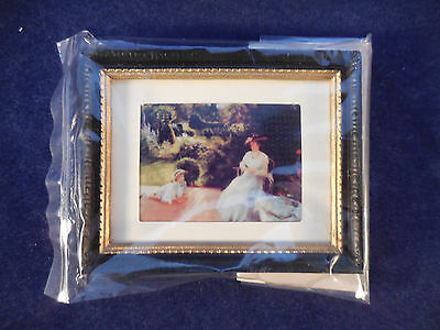 Dollhouse Miniature Framed Victorian Picture New