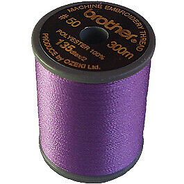 Brother satin finish embroidery thread. 300m spool LILAC 612