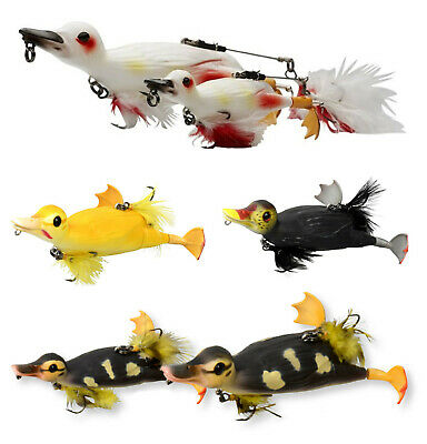 SAVAGE GEAR 3D Suicide Duck -Größe&Farbe wählbar- Ente Top Water Wobbler Popper