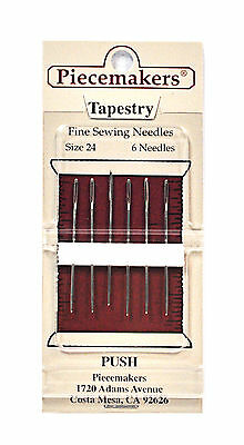 Piecemaker Tapestry Fine Sewing Needles Size 24