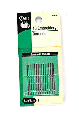 Dritz Embroidery Needles Size 8