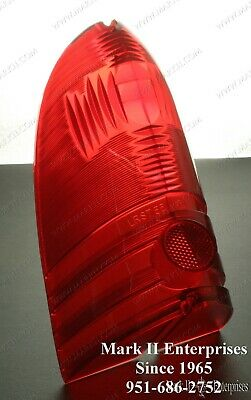 1955 55 Lincoln Tail Light Lamp Lense NOS QUALITY - Original Lettering & Color